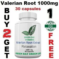 Valerian Root 1000mg/Serving Max Strength Relax, Sleep, Herb Made USA Free ship