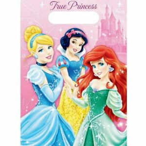 DISNEY PRINCESS SPARKLE Loot Party Bags Pack of 8 Lolly Favour Birthday Kids