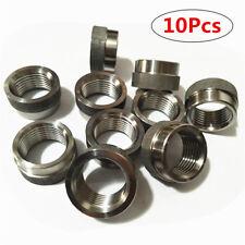 10Pcs Stainless Steel O2 Oxygen Sensor Extender Nut Recess Bung M18 X 1.5 Thread