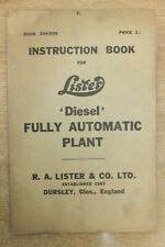 lister diesel fully automatic plants diesel engine instruction book vintage