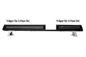 Skiaufsatz für 5PaarSki/2Boards Stahl schwarzSchnellmontage FÜR BARRE 32X 22