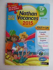 Livre Manuels scolaire Education NATHAN VACANCES 2015   du CP vers le CE1