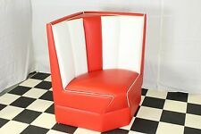 American Diner Furniture 50s Style Retro Corner Booth Red Commercial Grade