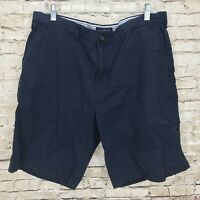 Tommy Hilfiger Men's Size 38 Cotton Golf Shorts Casual Front Navy Blue