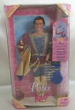 Barbie Mattel Ken as Rapunzel's Prince with Crown & Jewels 1997 ages 3+ New