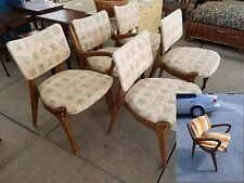 6 AMAZING ATOMIC SPACE AGE EXAGGERATED DINING CHAIRS MANNER OF VLADIMIR KAGAN P