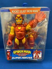 "Spiderman & Friends Rocket Blast IRON MAN  6"" Figure Preschool Brand new Rare"