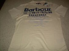 BARBOUR Greatcoat Tan Mens T Shirt Flags Ship M NWT NEW FREE SHIP