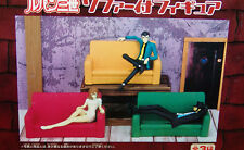 NEW Banpresto LUPIN the 3rd A FIGURE with SOFA,  COMPLETE 3 pc. Set  USA SELLER