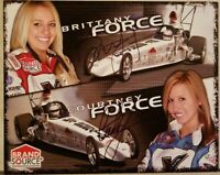 2005 Courtney and Brittany Force Signed Rookie Handout Brand Source Free Shippin