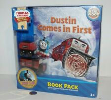 Thomas Friends Wooden Railway Train - Dustin Comes in First Book & Engine Pack