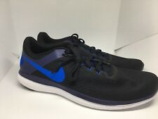 NIKE Black Blue RUNNING SHOES FLEX 2016 RN SIZE 14 830369 014 New in Box!