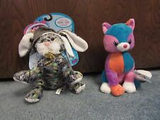 Webkinz Rockerz Bunny and Colorblock Kitty - WITH CODES