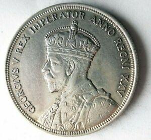 1935 CANADA DOLLAR - AU - High Grade Rare Date Silver Crown Coin - Lot #J12