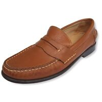 Studio BELVEDERE Brown Leather Slip On Loafer Shoe Mens Size 9