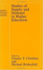 Studies of Supply and Demand in Higher Education (National Bureau of E-ExLibrary