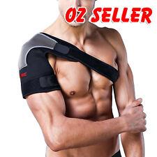 Adjustable Shoulder Support Brace Compression Strap Heat Patch Protection Sports