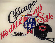 Chicago Bears 1986 World Champions vtg t shirt We Did It w/Old Style mens size M
