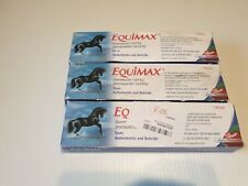 3x Equimax Horse Wormer Dewormer Paste, Apple Flavored, 6.42 gm