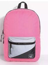 Herschel Supply Neon Pink Black Reflective 17L Backpack Laptop Women $78 NWT ❤️