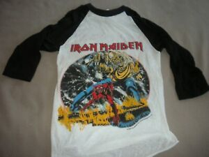 Very Rare Vintage 1982 New Unsold IRON MAIDEN # of the Beast T-shirt - Small