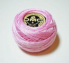 DMC Pearl Cotton Ball (10 gram) Size 8 Color #605 Very Light Cranberry