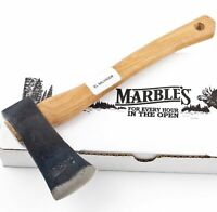 "Marbles Single Bit 11"" Axe High Carbon Steel Head Hatchet Hickory Handle MR700"