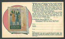 1929 PC NY NATIONAL BELLAS HESS CO OFFERS FREE CATALOG HAVING LATEST SEE INFO