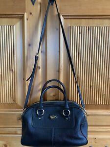 BRIC'S Handtasche in Schwarz Leder