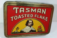 Old TASMAN Toasted Flake MINT CONDITION! 2oz PICTORIAL tobacco tin NEW ZEALAND