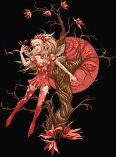 STRAWBERRY Luna Fairy contato CROSS STITCH KIT