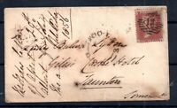 GB QV 1856 1d Red Star Cover to Taunton 'Too Late' Cachet WS18522