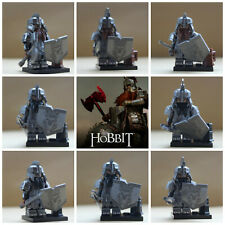 Lord Of The Rings Hobbit 8 Mini Figures Dwarves Dwarf Dain Thorin  Use with lego