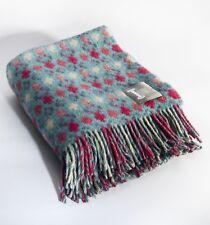 Loom & Bobbin UK Made Wool Blanket Welsh Tapestry / Fair Isle Design - Raspberry