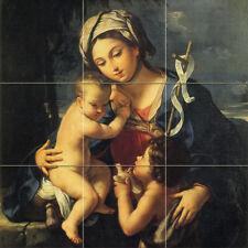 18 x 18 Art Madonna Mural Ceramic Backsplash Tile #822