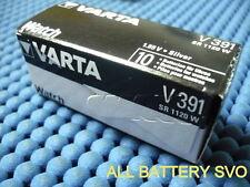 10 PILE VARTA mod V391/V381 A BOTTONE PER OROLOGI SR 1120 W AG8/SG8 LR55 SR5