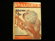 1931 Spalding's 'How to Pitch' Annual Book VG+