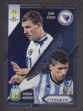 Panini Prizm World Cup 2014 - Matchups # 12 Dzeko / Aguero - Bosnia / Argentina