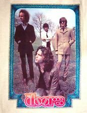THE DOORS T-SHIRT IRON ON VINTAGE REAL 1970s 1980s VINYL BAND TRANSFER