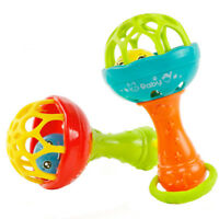 1Pc Educational Toy Plastic Baby Teether Rattle Hand Bell Grasp Toy Color Random