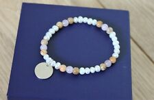 Thomas Sabo 925 silver pearl / gemstone bracelet, S, NEW! RRP £69