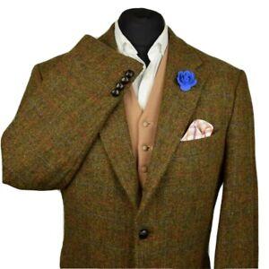 Harris Tweed Tailored Country Textured Blazer Jacket 48R #960 PRISTINE GARMENT