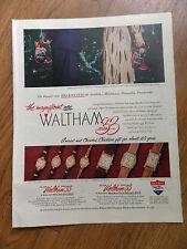 1948 Waltham Series 33 Watches Ad  Christmas Theme