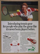 1987 Boris Becker photo Puma Tennis Shoes Rackets Apparel vintage print Ad