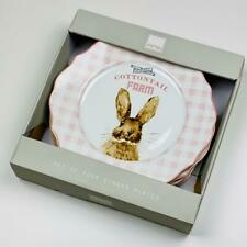 Easter Bunny Clover's Cottontail Farm Porcelain Dinner Plates Set of 4 222 Fifth