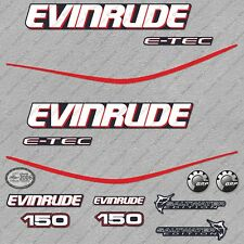 Evinrude 150 hp ETEC outboard engine decals sticker set reproduction Blue Cowl
