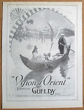 GALLAND 1918 Vintage French Ad Print GUELDY VISION D'ORIENT PERFUME Gondola