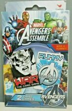 Marvel Card Game Avengers Assemble - War & Rummy - 2 Pack Playing Cards - New
