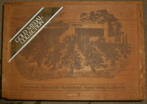 FRANCISCAN VINEYARDS WINE BOX, Napa Valley CA, GOLD MEDAL COLLECTION Or LID Only