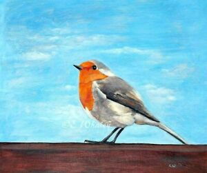 Robin Art Giclee 8x10 Inches Open Edition Print With COA
